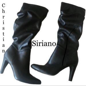 🛑 Christian Siriano Black Slouchy Heel Boots